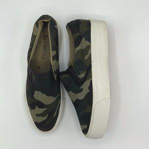 Restricted Camo Slip on Sneaker